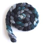 Grey and Teal on Superwash Merino/ Nylon3