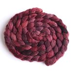 Cranberry Medley on Mixed BFL/Silk Roving