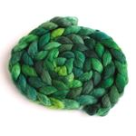Green Gallery on BFL Wool Roving