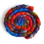 Zinnias During Dusk - Polwarth/Silk Roving-1