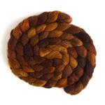 Graham Cracker Brown - BFL Wool Spining Roving-1