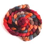 Pumpkin and Persimmon on Polwarth/Silk Roving1