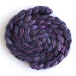 Violet Shadows - Polwarth/Silk 60/40 Roving-1