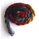 Charcoal and Maple on Merino Wool and Tencel
