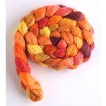 Calendula Flowers on Polwarth/Silk 60/40