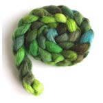 Green Parade on BFL Wool Roving