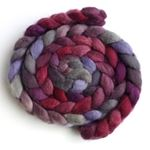 Blueberries and Wine - BFL Wool Spining Roving