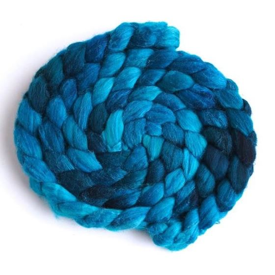 Drenched - Polwarth/Silk Roving-1