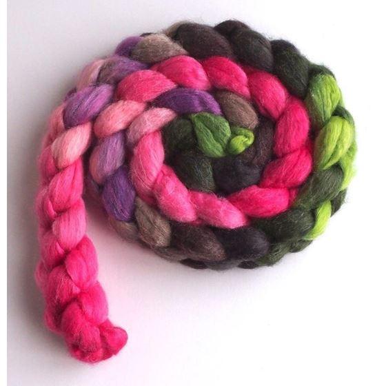 Blushing Pinks on Merino/ Silk Roving