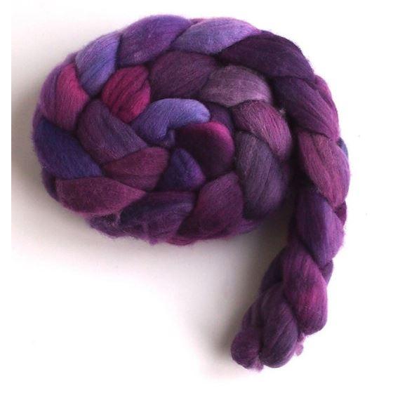 Flag Violet on Rambouillet Wool