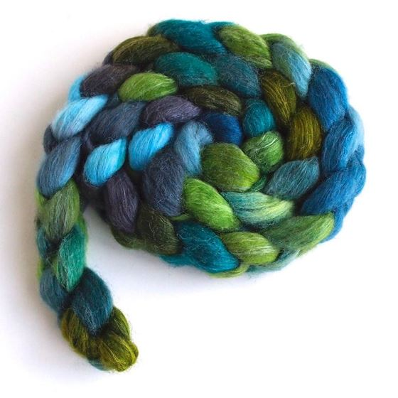 Green Earth on Polwarth/Silk Roving