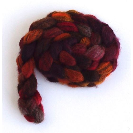 Maple Leaf Rag on Mixed BFL Wool