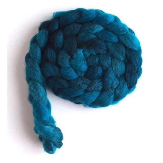 Aqua Dusk on Polwarth/Silk Roving3