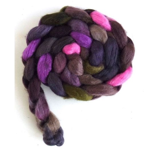 Tulips in the Dark - Polwarth/Silk Roving-3