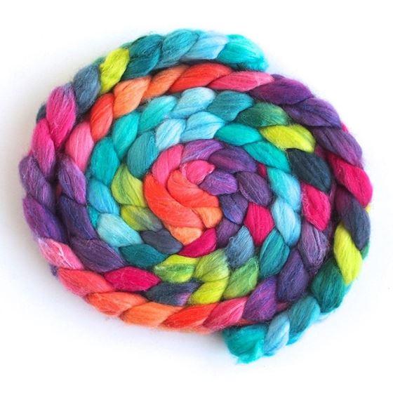 Summer Jubilee - Polwarth/Silk Roving