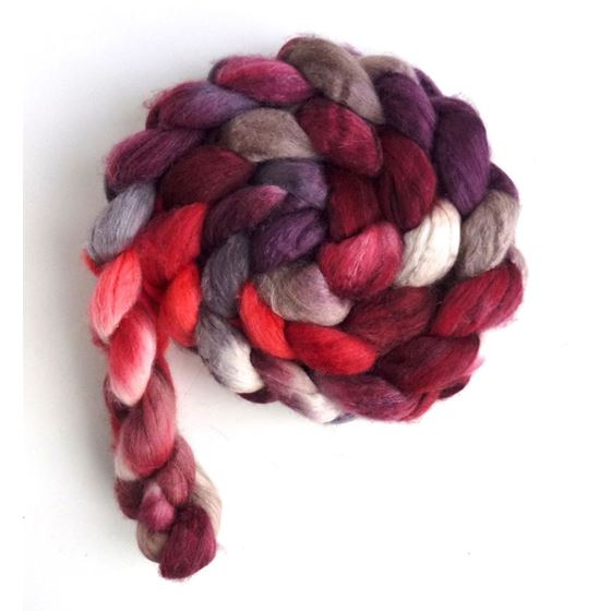 Merino/ Silk Roving (Top) - Hand Painted Spinnin-3