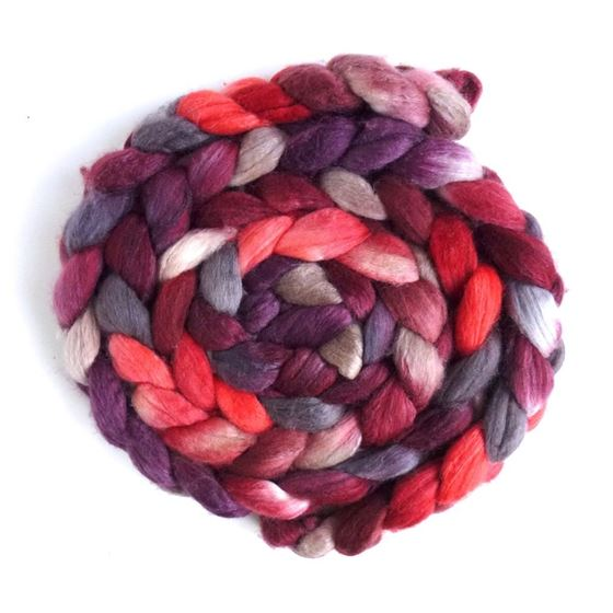 Merino/ Silk Roving (Top) - Hand Painted Spinning