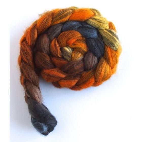 Fire Pit - Mixed BFL Wool Roving-3