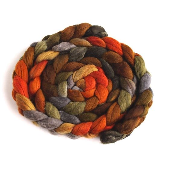 Autumn Splendor on Superfine Merino Wool Roving