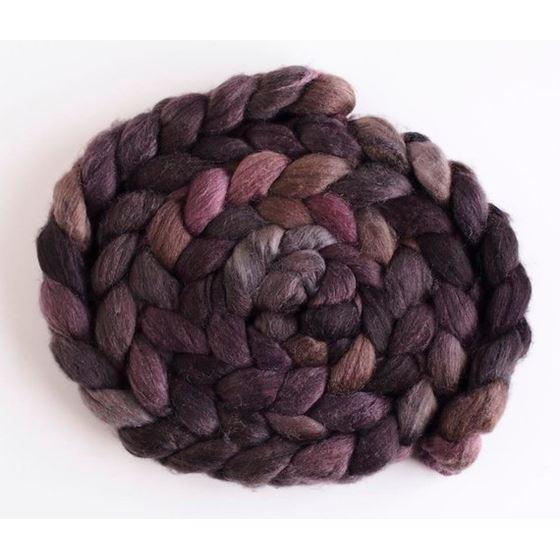 Stacked Cedar, Merino/ SW Merino/ Silk Roving-1
