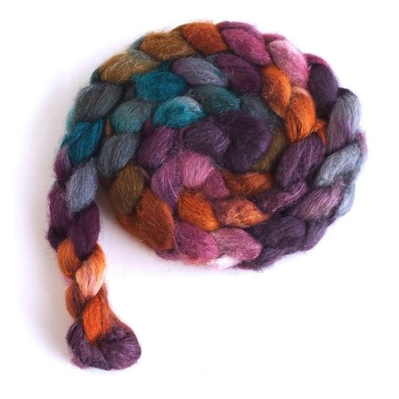 Heart of Wood on BFL/Silk Roving