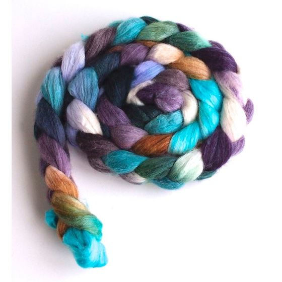 Town Twilight on Organic Polwarth/Cultivated Silk