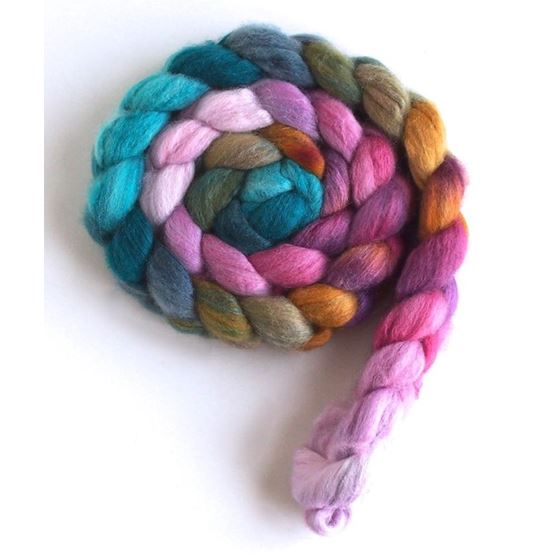 Radicchio on Polwarth/Silk Roving
