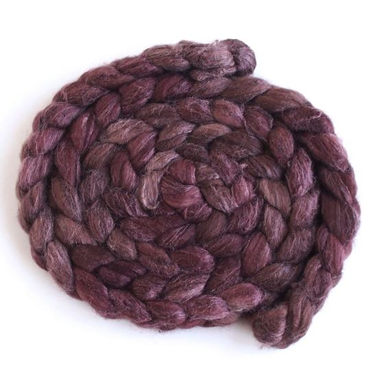 Blended Chocolate on Polwarth/Silk 60/40 Roving1