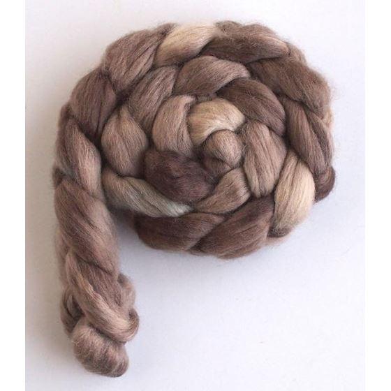 Goose Brown on Corriedale Wool Roving-3