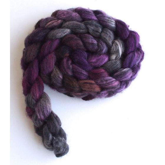 Violet Penumbra on Merino Wool and Tencel