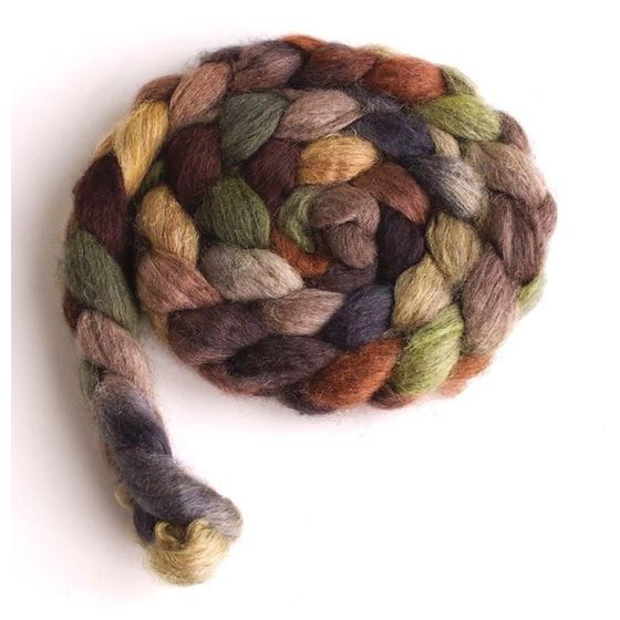 Sheep in the Field on Mixed BFL/Silk Roving