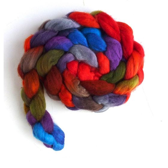 Zinnias During Dusk - Merino Wool Roving S-Fine-3