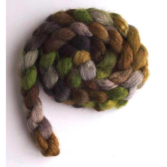 Lichen on Mixed BFL/Silk Roving