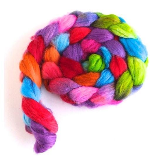 Color Tag on Superwash Merino/ Nylon Roving