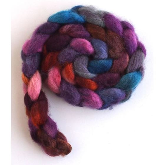 Late Winter Sunset - BFL Wool Roving-3