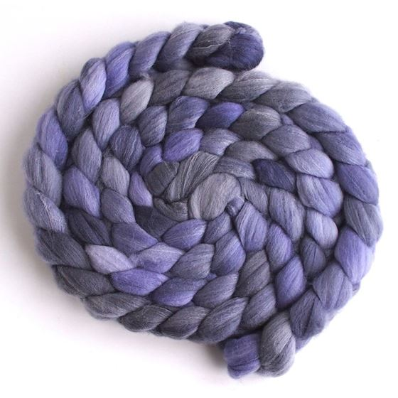 Lavender on Targhee/Bamboo/Silk Roving-1
