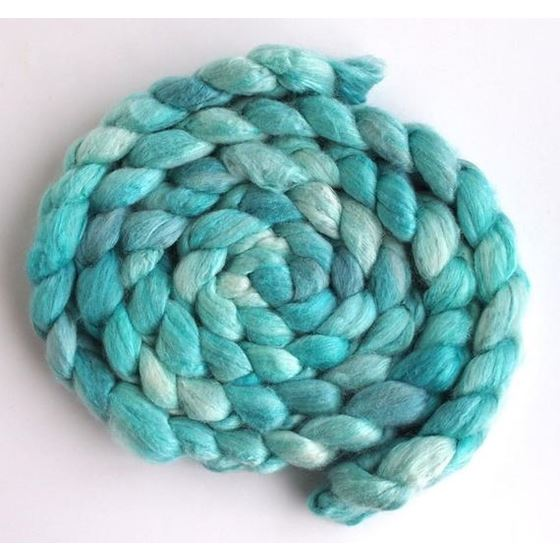 Sea Glass Tonal - Polwarth/Silk 60/40 Roving-1
