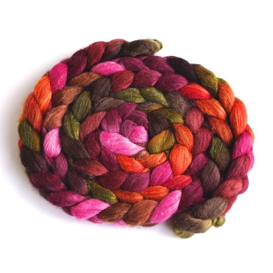 Living Color on Polwarth/Silk 60/40 Roving