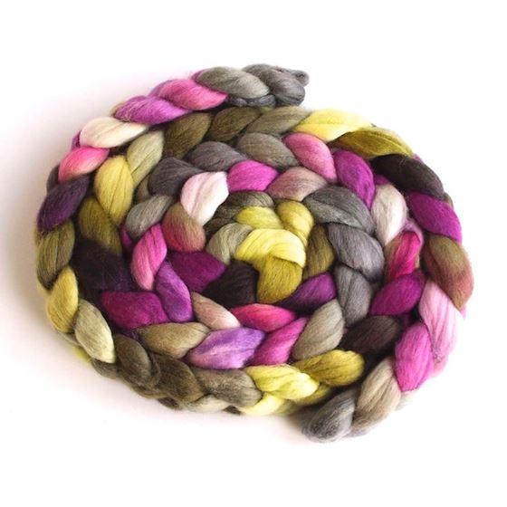 Emergent Pinks on Finn Wool Hand Spinning Roving