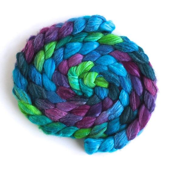 Cool Storm - Polwarth/Silk 60/40 Roving-1