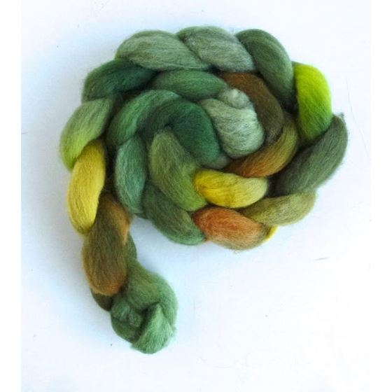 Falkland Wool Roving - Fiber, Green Family-3