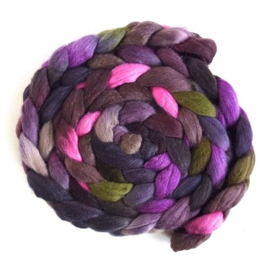 Tulips in the Dark - Polwarth/Silk Roving-1